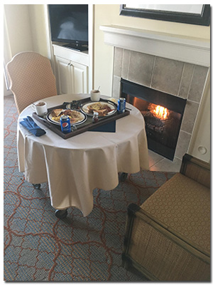 Deluxe Inroom Dining with Fireplace Romance